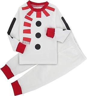 A&J Design Bambini Ragazzo Natale Babbo Pigiama Set di Vestiti
