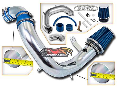 Neon Air Intake Kit (Rtunes Racing Cold Air Intake Black / Red / Blue Filter kit For 2003-2005 Dodge Neon SRT-4 DOHC Turbocharged 2.4L (Blue))