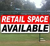 RETAIL SPACE AVAILABLE 13 oz heavy duty vinyl banner sign with metal grommets, new, store, advertising, flag, (many sizes available)