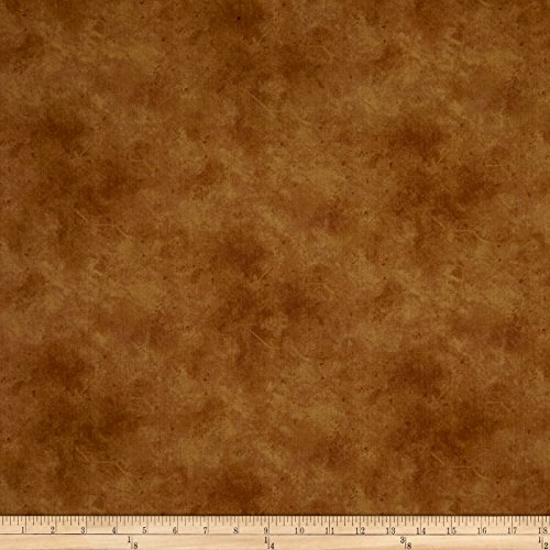 Suede Gold/Brown Fabric by The Yard - P & B Textiles 0564586