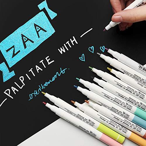 Vann92 12pcs/set Oil Painting Metallic Marker Pen Pearl Color Art Markers Pen Student Office Accessories art Supplies kawaii ()