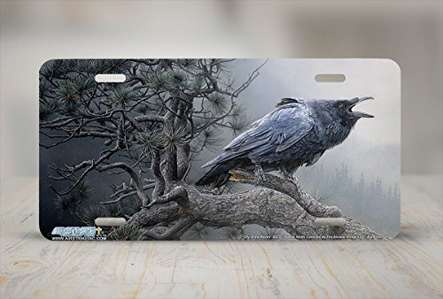License Plate Frame for Women Cry of the Raven Raven License Plate Holders