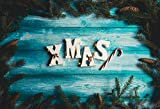 Leyiyi 6x4ft Photography Backgroud Merry Christmas Backdrop Happy New Year Vintage Xmas Holly Jolly Christmas Rustic Grunge Wooden Board Pine Nut Branch Candy Cane Photo Portrait Vinyl Studio Prop