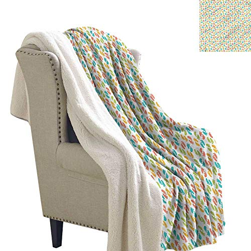 Jaydevn Baby Throw Blanket Newborn Footprints Birth Blanket 60x32 Inch