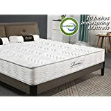 Rucas Memory Foam Mattress Innerspring Hybrid Mattress for Added Comfort Mattress, CertiPUR-US Certified Adaptive Foam, Supportive & Pressure Relief for Deeper Restful Sleep, 15 Year Warranty - Queen