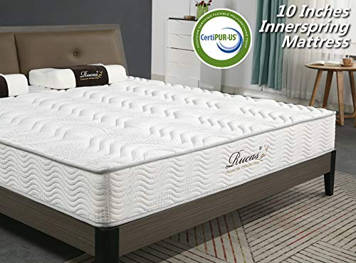 Rucas Memory Foam Mattress Innerspring Hybrid Mattress for Added Comfort Mattress, CertiPUR-US Certified Adaptive Foam, Supportive Pressure Relief for Deeper Restful Sleep, 15 Year Warranty – Queen