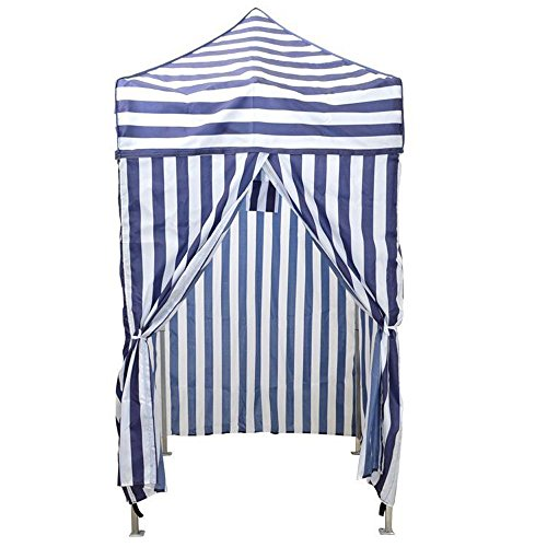 TMS Portable Cabana Stripe Tent Privacy Changing Room Pool Camping Outdoor Canopy (Outdoor Cabana)