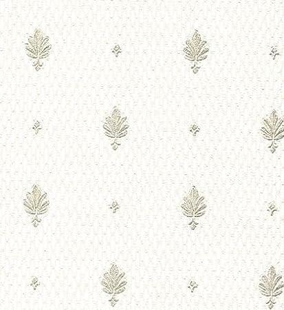 Carta Da Parati Con Giglio Fiorentino.Carta Da Parati Classica In Vinilico Lavabile Effetto Tessuto Con
