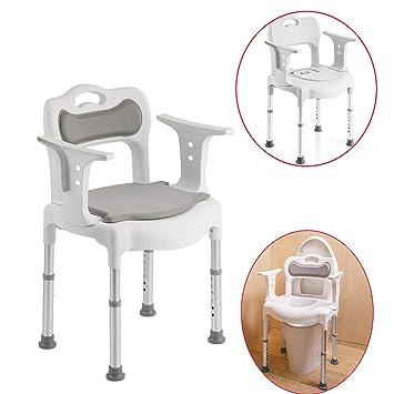 Amazing Amazon Com Toilet Chair Hxlq Elderly Mobile Toilet Seat Pabps2019 Chair Design Images Pabps2019Com
