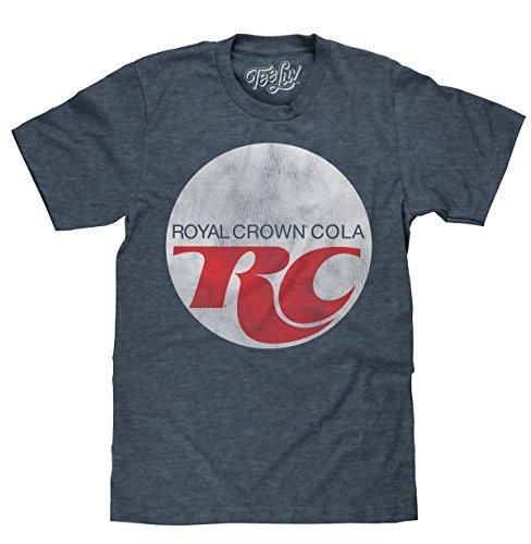 Tee Luv Royal Crown Cola T-Shirt - Retro RC Cola Soda Logo Shirt (XX-Large) Indigo/Black Heather ()