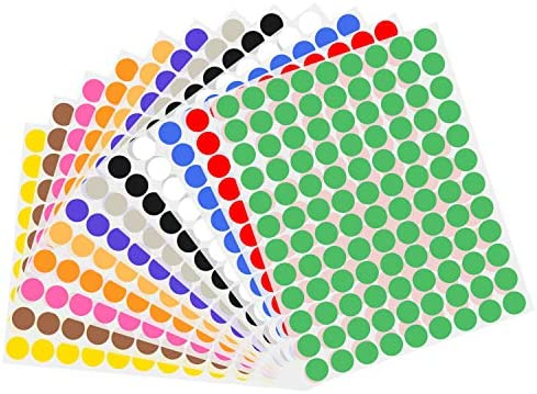 Wisdompro Color Coding Circle Label Stickers product image