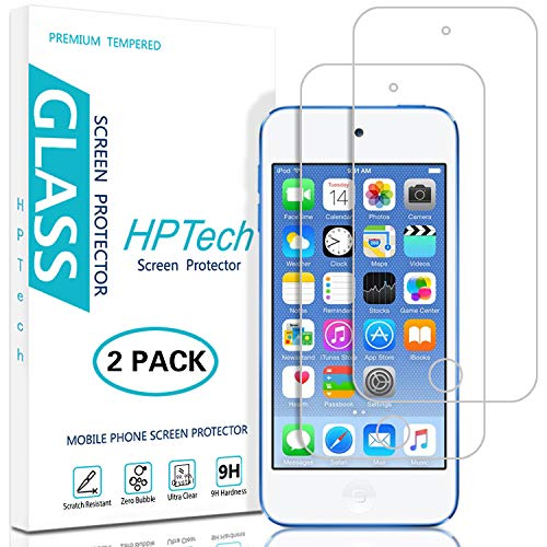 HPTech iPod Touch 6/5 Screen Protector - (2-Pack) Tempered Glass Film for Apple iPod Touch 6G (6th Generation) / 5G (5th Generation) Easy to Install with Lifetime Replacement Warranty ()