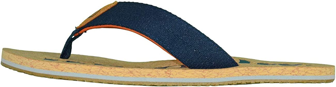 MADSea Nature Tongs Flip Flops Homme Femme Li/ège Bleu Fonc/é Orange