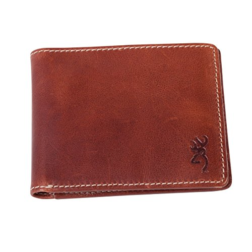 Browning Buckmark Bi-Fold Leather Wallet - Brown