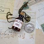 Alice in Wonderland Tea Party Necklace-Drink me Bottle 6