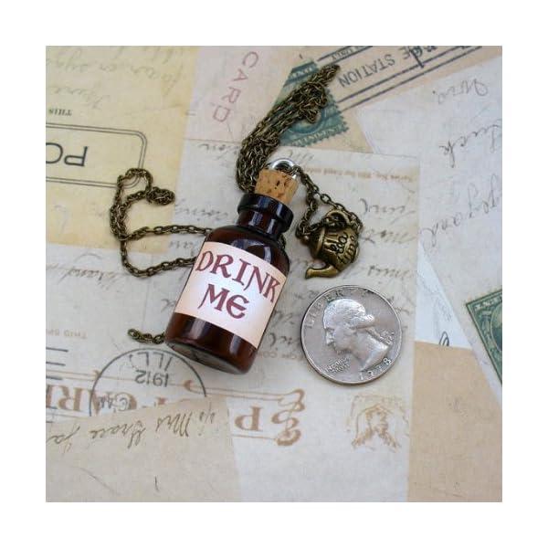 Alice in Wonderland Tea Party Necklace-Drink me Bottle 4