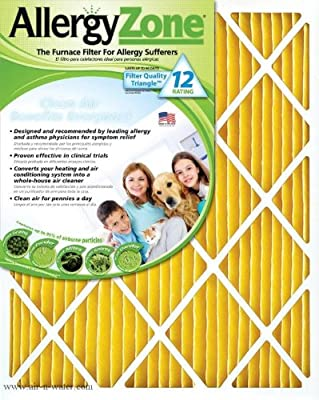 AllergyZone AZ20201 Air Filter for Allergy Sufferers, 20 x 20 x 1""