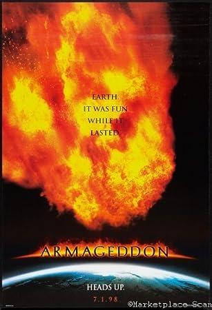 amazon com armageddon movie poster 24x36in kitchen dining