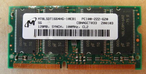 MT8LSDT1664HG-10EB1 PC100-222-620 128MB synch 100mhz CL2 Memory RAM - also compatible with 1st Gen iBook