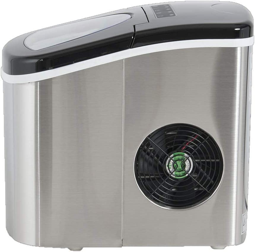 White Deco Gear Rapid Electric Party Ice Maker Per Day Capacity Compact Top Load 26 Lbs Great For Hosting Never Run Out Of Ice Again