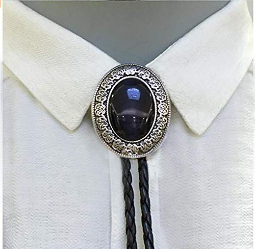 Vintage Style Alloy Fashion Bolo Tie Bow Tie for Mens (Black Onyx) ()