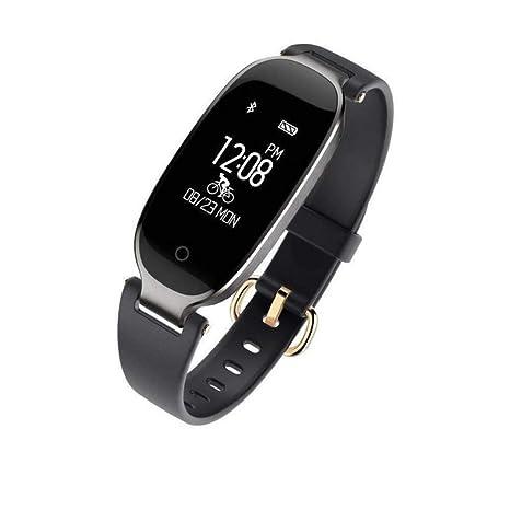 UKCOCO Correa de Pulsera Inteligente para Mujer Calorie Fitness Tracker Reloj Inteligente Pulsera Impermeable para S3