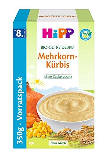 Hipp Bio-Getreidebreie Mehrkorn-Kü rbis, 1er Pack (1 x 350g)