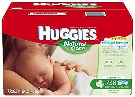 Huggies Natural Care Baby Wipes - Unscented - 736 ct by Huggies: Amazon.es: Salud y cuidado personal