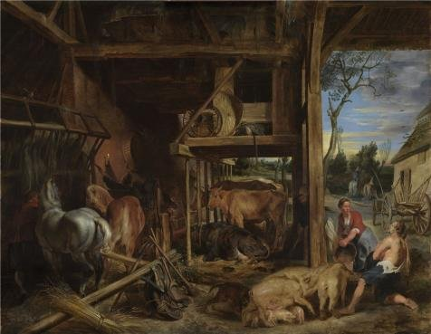 The Polyster Canvas Of Oil Painting 'Peter Paul Rubens,The Prodigal Son,1577-1640' ,size: 18x23 Inch / 46x59 Cm ,this Imitations Art DecorativeCanvas Prints Is Fit For Wall Art Artwork And Home (Tango Lily Halloween)