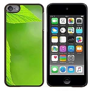 "For Apple iPod Touch 6 6th Touch6 , S-type Textura verde de la hoja"" - Arte & diseño plástico duro Fundas Cover Cubre Hard Case Cover"