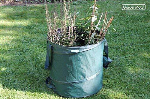 GardenMate 3x Pop-up Gartensack 85l Selbstaufstellend aus robustem Polyester Oxford 600D Gewebe