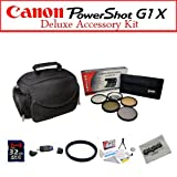 Canon G1X Intermediate Accessory Package Featuring Opteka Microfiber Gadget Bag, 32GB Class 10 Digital Memory Card And More