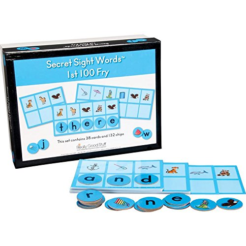 Really Good Stuff Secret Sight Words 1st 100 Fry - Fun Game Uses Letters and Pictures to Reveal Secret Fry Sight Words - Build Letter and Sight-Word Recognition and Letter-Sound Association