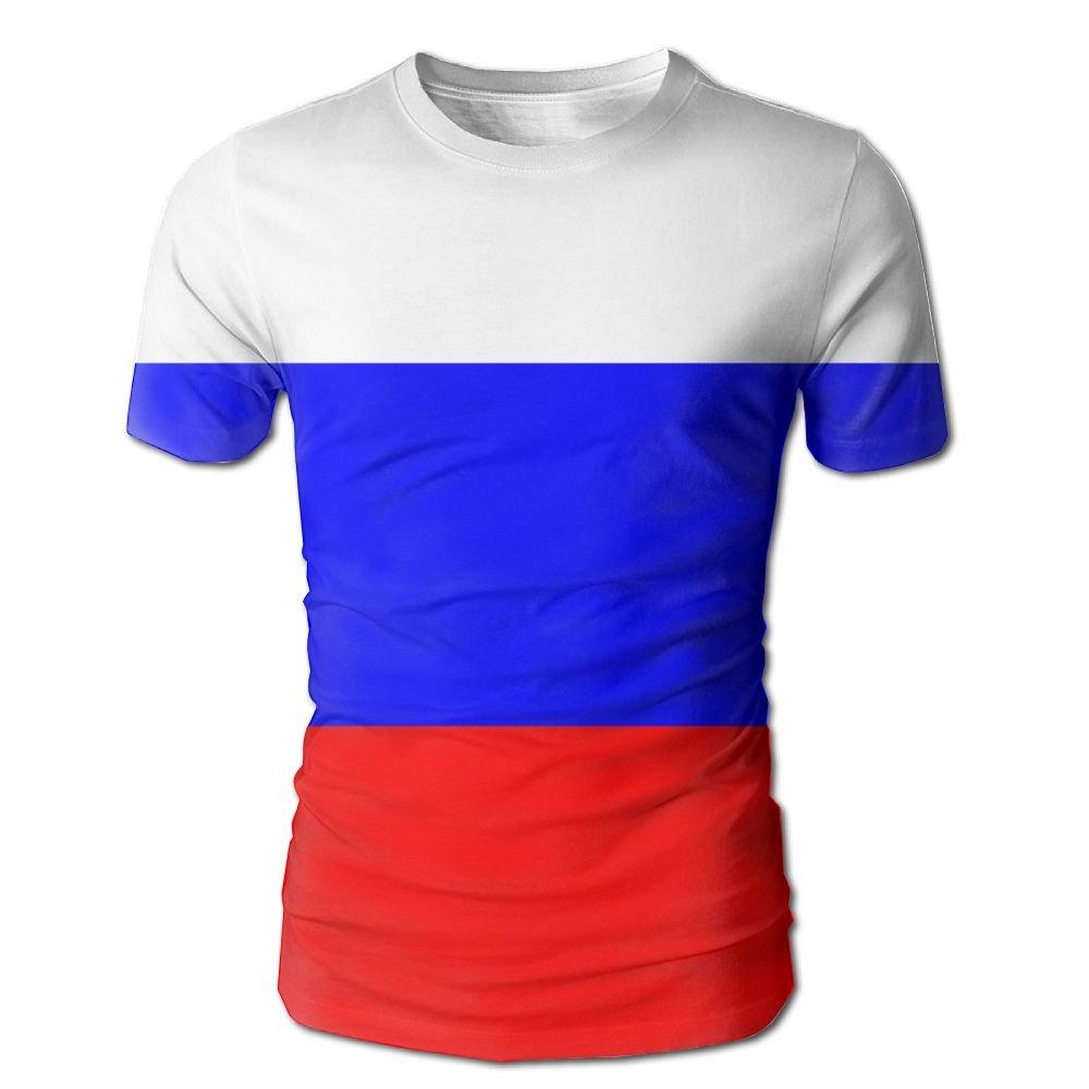 CUTEDWARF Hawaiian Short Sleeve Crewneck Tee 3D Printed Flag Russia T-Shirt