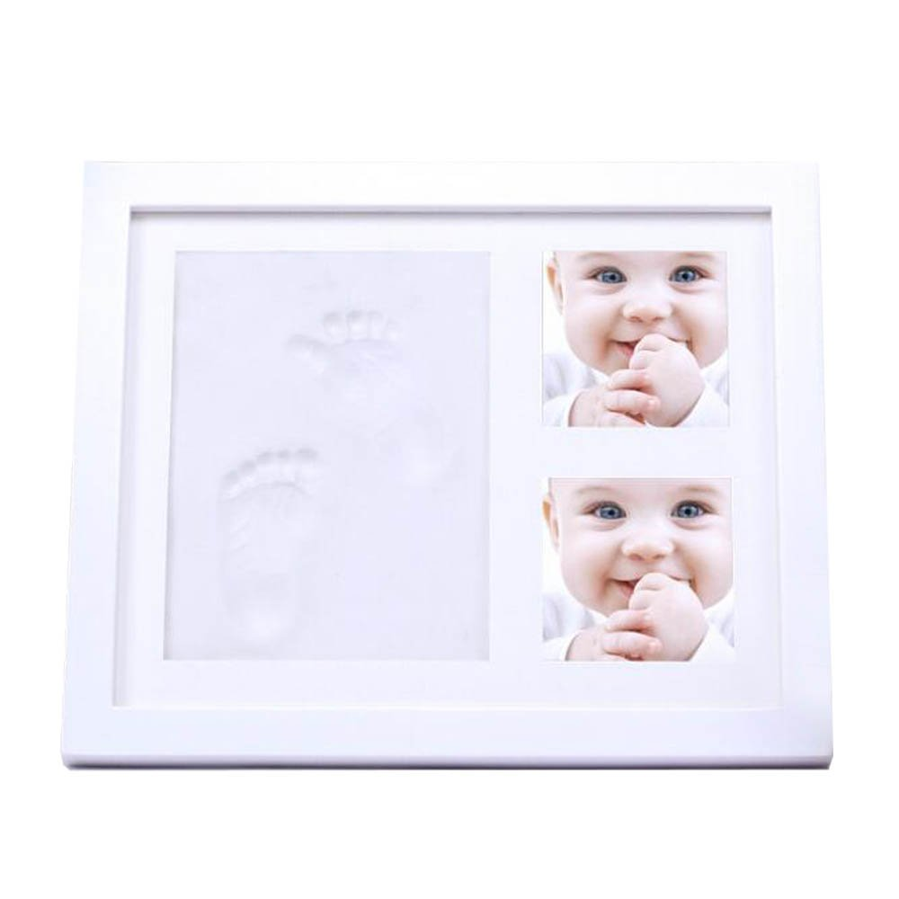 Baby Handprint Kit, Baby Footprint Kit,ZIKO Baby Picture Frame Babyprints Non Toxic CLAY Forever Registry Memory for Keepsake Decoration, Wall and Desk Newborn Baby Boy gifts, and Baby Girls Gifts