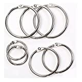 #9: Round Loose Leaf Binder Rings Metal Book Rings Paper Notebook Album Photo Rings Curtain Hooks Rings Clips Keychains Keyrings for School,Home,or Office 1.97 Inch,Silver,10 Pieces by WWahuayuan