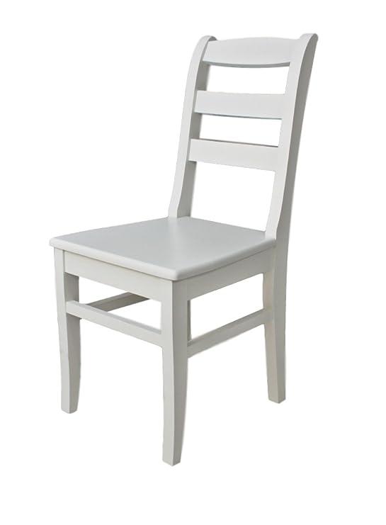 Vollholz Holz Elbmöbel Stuhl Weiß Weiß Landhaus Braun Holzstuhl Küchenstuhl Massiv Cottagelena EI9DHe2WY