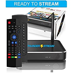 Android TV Box with Keyboard Remote - PRO Thunder Stream Media Player Smart TV Set Top Box 2017 [Octa Core | 2GB RAM | 16GB MEMORY | WIFI | Google Play Store | 64-bit] by Thunder Tech