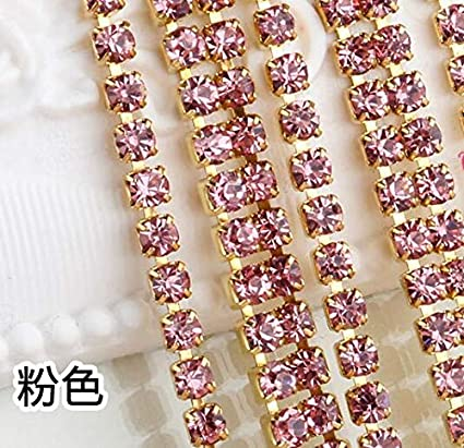 53354a9553 Amazon.com: Lace Crafts - New 5meter/lot Rhinestone Clear Crystal ...