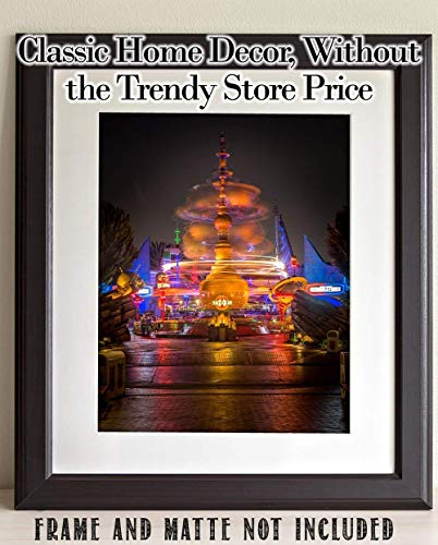 11x14 Unframed Art Print Gift for Disney Lovers Disneyland Astro Orbiters