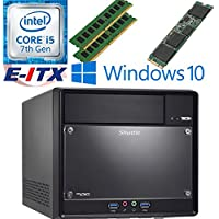 Shuttle SH110R4 Intel Core i5-7400 (Kaby Lake) XPC Cube System , 8GB Dual Channel DDR4, 120GB M.2 SSD, DVD RW, WiFi, Bluetooth, Window 10 Pro Installed & Configured by E-ITX