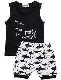 Baby Boy Girl Clothes Shark and Doo Doo Print Summer...