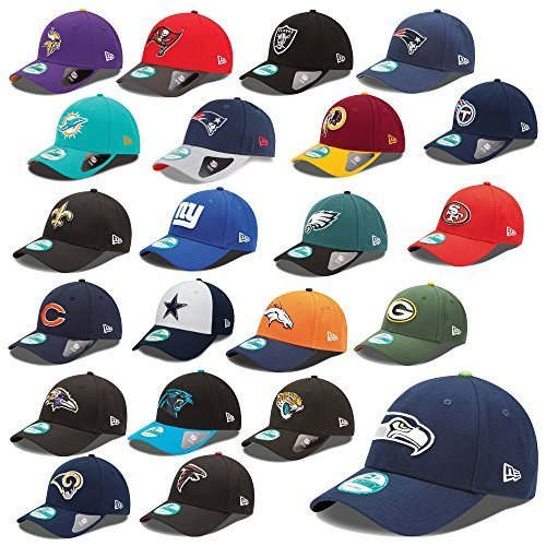 New Era 9forty Strapback Cappello NFL The League Seahawks Raiders Patrioti raiders Pantere Broncos UVM - Aquile Philadelphia #2452, OSFM (One Size fits most) None