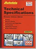 img - for 2004 Domestic Technical Specification Manual (1994-03) (Autodata Technical Manual Series) book / textbook / text book