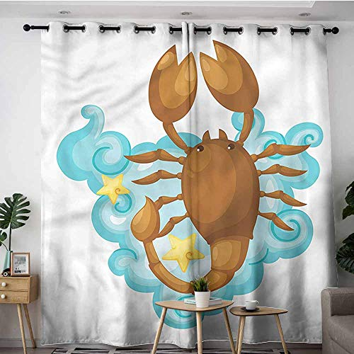 iving Room,Zodiac Scorpio,Cartoon for Kids,Great for Living Rooms & Bedrooms,W84x72L ()