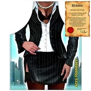 Frech y ingeniosamente. Tema Delantal con el diseño: Business Woman... con Gratis Urkunde.