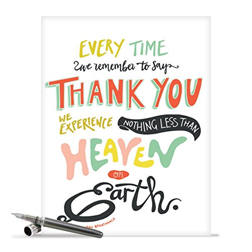"""'Words of Appreciation' Card, XL Thank You Card With Envelope (8.5"""" x 11""""), Cute, Colorful Fonts Quote, Large Appreciation Greeting Card for Family, Friends of All Ages #J9633DTYG"""