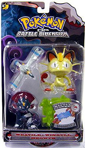 Pokemon Diamond and Pearl Series 10 Basic Figure 3-Pack Weavile, Wingull and Meowth