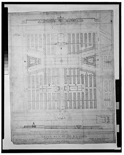 Photo  Temporary War Housing Us Housing Corporation Washington Dc 1918 Site Plan