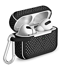 TalkWorks Hard Cover Case for AirPod Pro – Protective Skin for AirPods Keychain Case Clip Compatible with Apple AirPod…